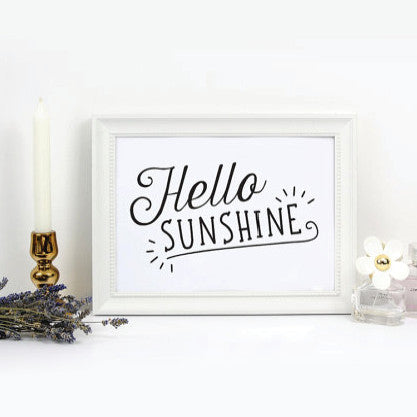 Hello Sunshine - White