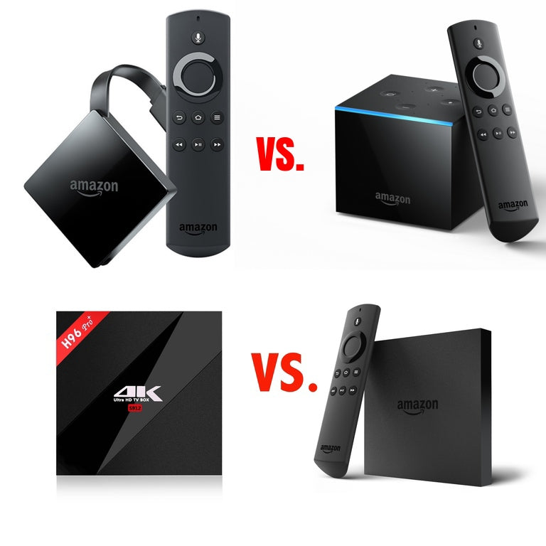 Jailbroken Amazon fire tv Cube vs. Amazon fire tv Box vs. 2018 Amazon fire tv Stick. Detailed Jailbroken Amazon fire tv Comparisons. Which one should you buy?