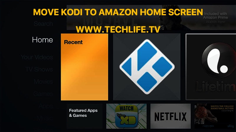Access Kodi from your Amazon Fire Tv Home page screen