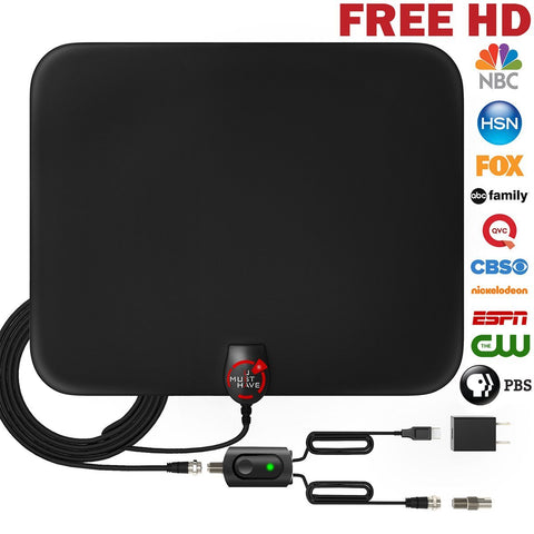 Amplified HD Digital Antenna with 80 Mile Range