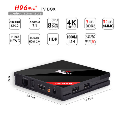 New Octacore Android tv Box H96 Pro Plus Box - New in box