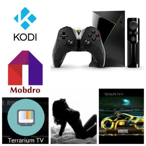 Jailbroken Nvidia Shield Android Tv Box w/ Game Controller Loaded w/ Kodi, Terrarium tv, Mobdro, Adblocker, VPN, and 15+ other Premium Apks