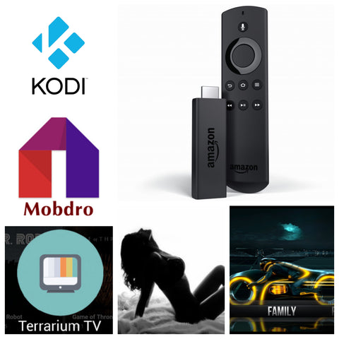 Jailbroken Amazon Fire Stick fully loaded w/ Kodi 17.6, Mobdro, Terrarium tv, and 15+ other Premium Apks