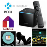Amazon Fire Tv Cube loaded w/ Alexa,  Kodi 18, Mobdro, Terrarium tv, and 15+ Premium Apks
