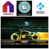 Mobdro Terrarium tv, Kodi 17.4 installed on Jailbroken Amazon fire tv Box