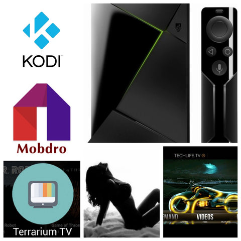 Jailbroken nvidia Shield tv box with Kodi 18, mobdro, Vpn