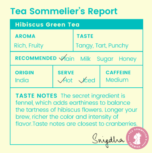 Hibiscus Green Tea - Tea Trunk