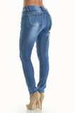"Ndulge ""Natural Lift"" Bling Floral Print Jeans - Ndulge In You"