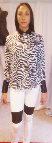 Ndulge Zebra Print Lounge Back Top - Ndulge In You