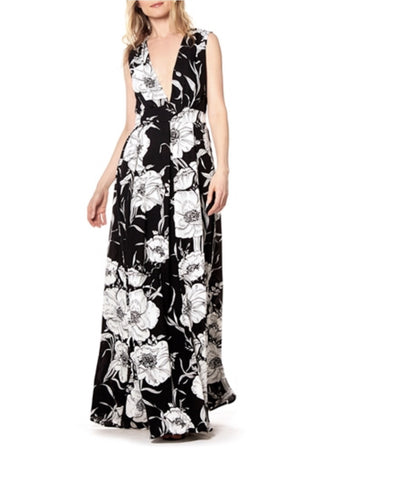 Ndulge V Neckline Sleeveless  Flower Maxi - Ndulge In You