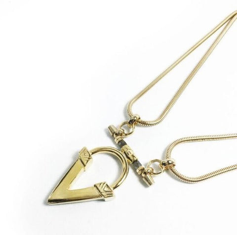 Ndulge Cool-V Necklace (Silver/Gold Option) - Ndulge In You