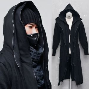 Ndulge Double Hood Diabolic Shadow Piping Long Cape - Ndulge In You