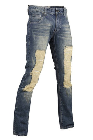 Men Distress Denim
