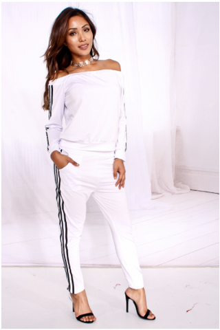 Ndulge Cold Shoulder Jogger Set - Ndulge In You