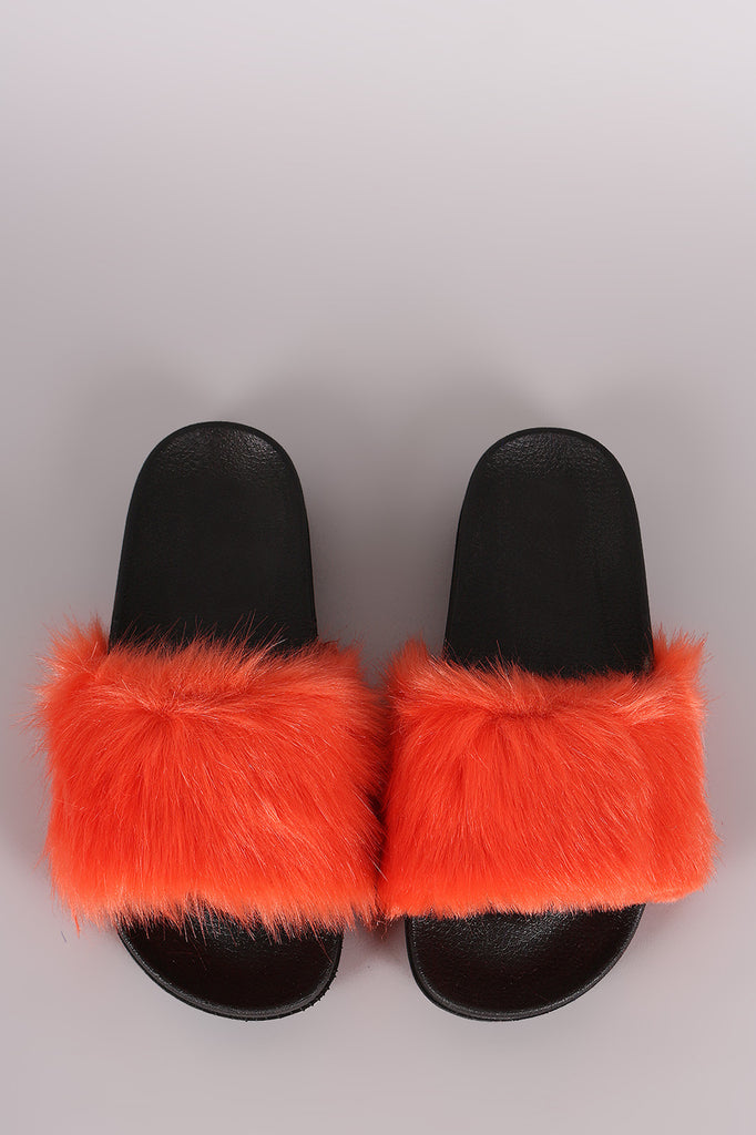 Open Toe Furry Slide Sandal - Ndulge In You