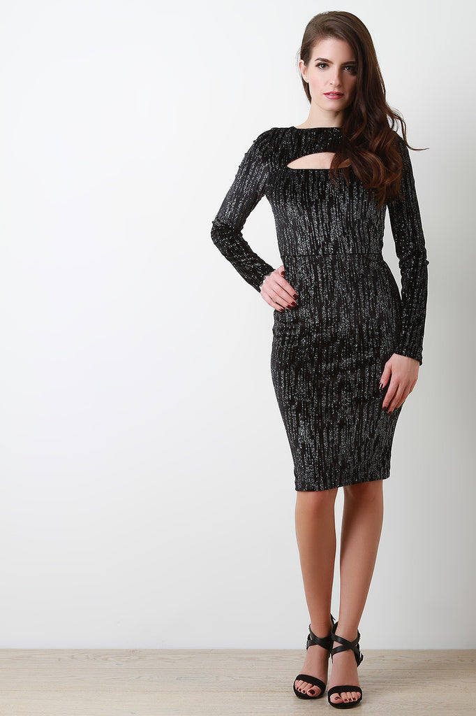Stardust and Velvet Bodycon Dress - Ndulge In You