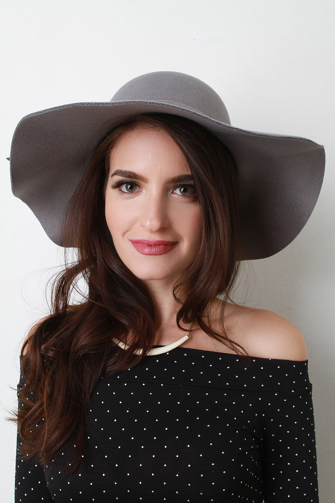 Pom Pom Wool Floppy Hat - Ndulge In You