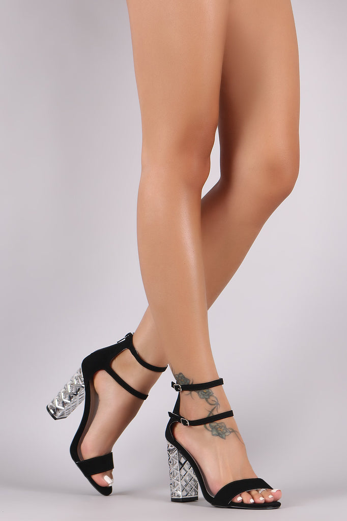 Qupid Nubuck Open Toe Lucite Crisscross Chunky Heel-CollectiveFab-Ndulge In You