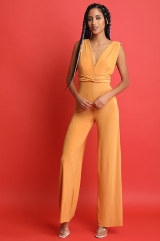 Sleeveless V-Neck Palazzo Jumpsuit-CollectiveFab-Ndulge In You