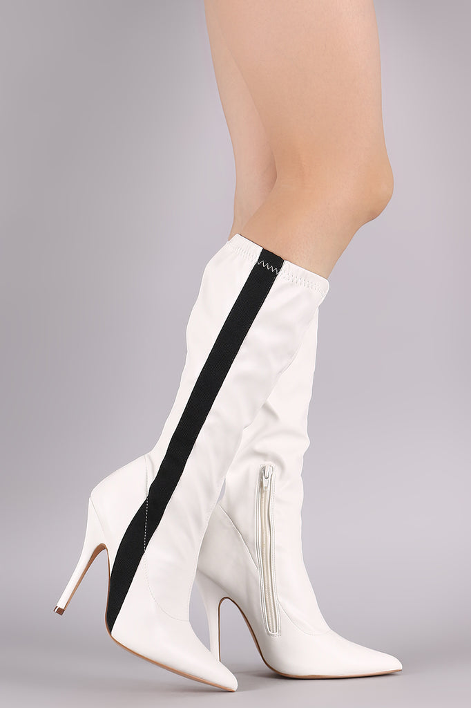 7d96b299ad9 ... Liliana Side Stripe Pointy Toe Stiletto Knee High Boots-CollectiveFab-Ndulge  In You ...