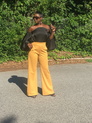 Ndulge Tailored Wrapped Waist Pants-Ndulge In You-Ndulge In You