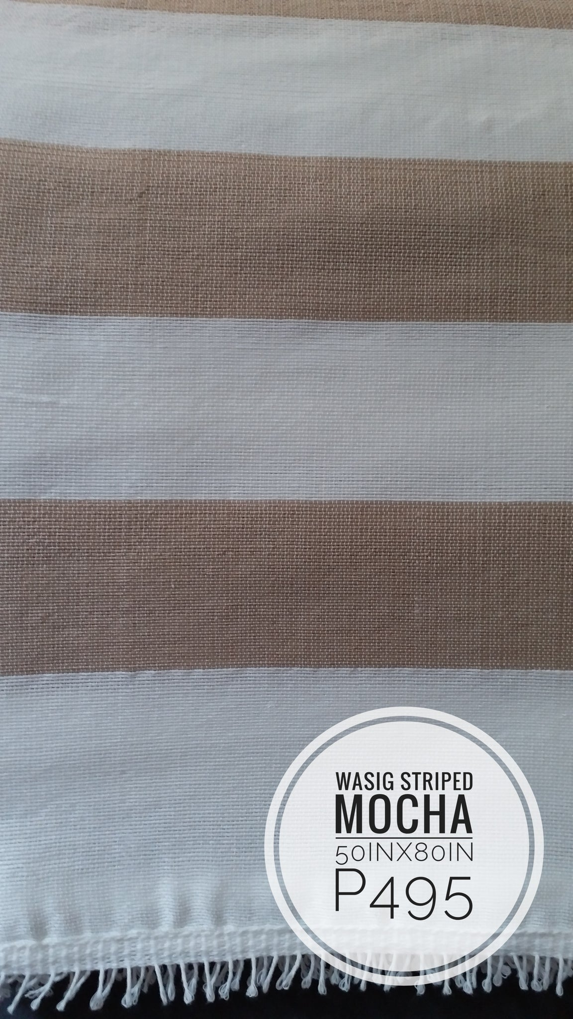 Inabel Classic Striped Wasig Blanket (~50inx80in)