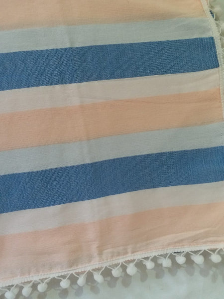 Striped Wasig Baby Blanket (~35inx40in)