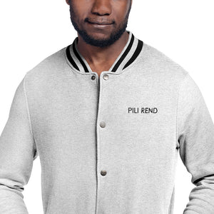 PILI REND - Embroidered Champion Bomber Jacket