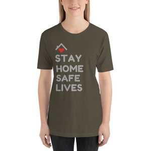 STAY HOME SAFE LIVES - Short-Sleeve Unisex T-Shirt