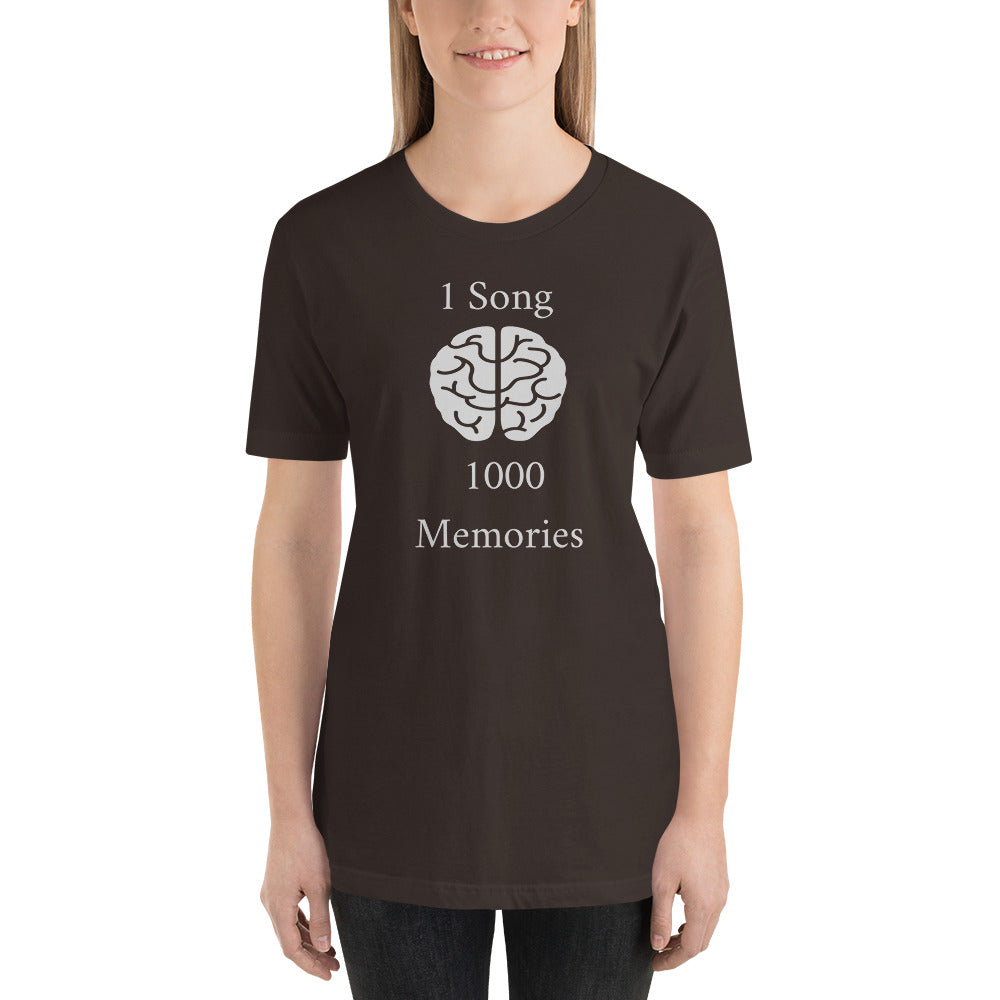 """ONE SONG 1000 MEMORIES"" - Short-Sleeve Unisex T-Shirt"