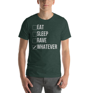 "Camiseta unisex ""EAT SLEEP RAVE"" - Manga corta"