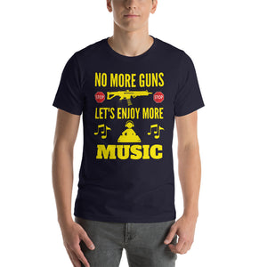 """ENJOY MORE MUSIC"" - Short-Sleeve Unisex T-Shirt"