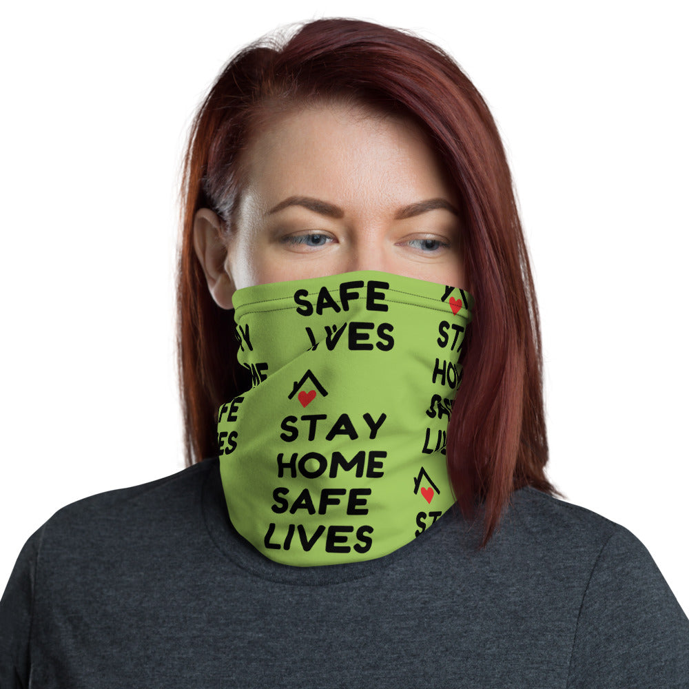 STAY HOME SAFE LIVES - Neck Gaiter
