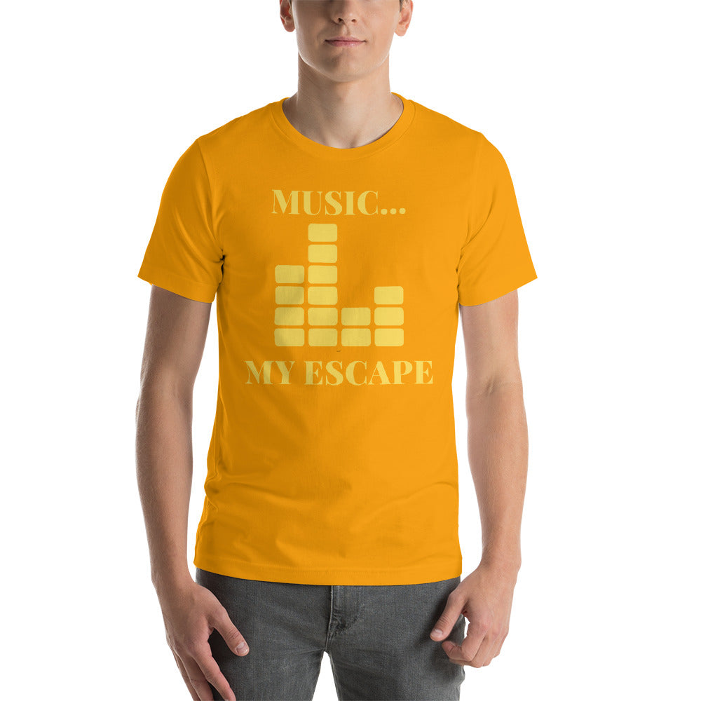 """MUSIC MY ESCAPE"" - Short-Sleeve Unisex T-Shirt"