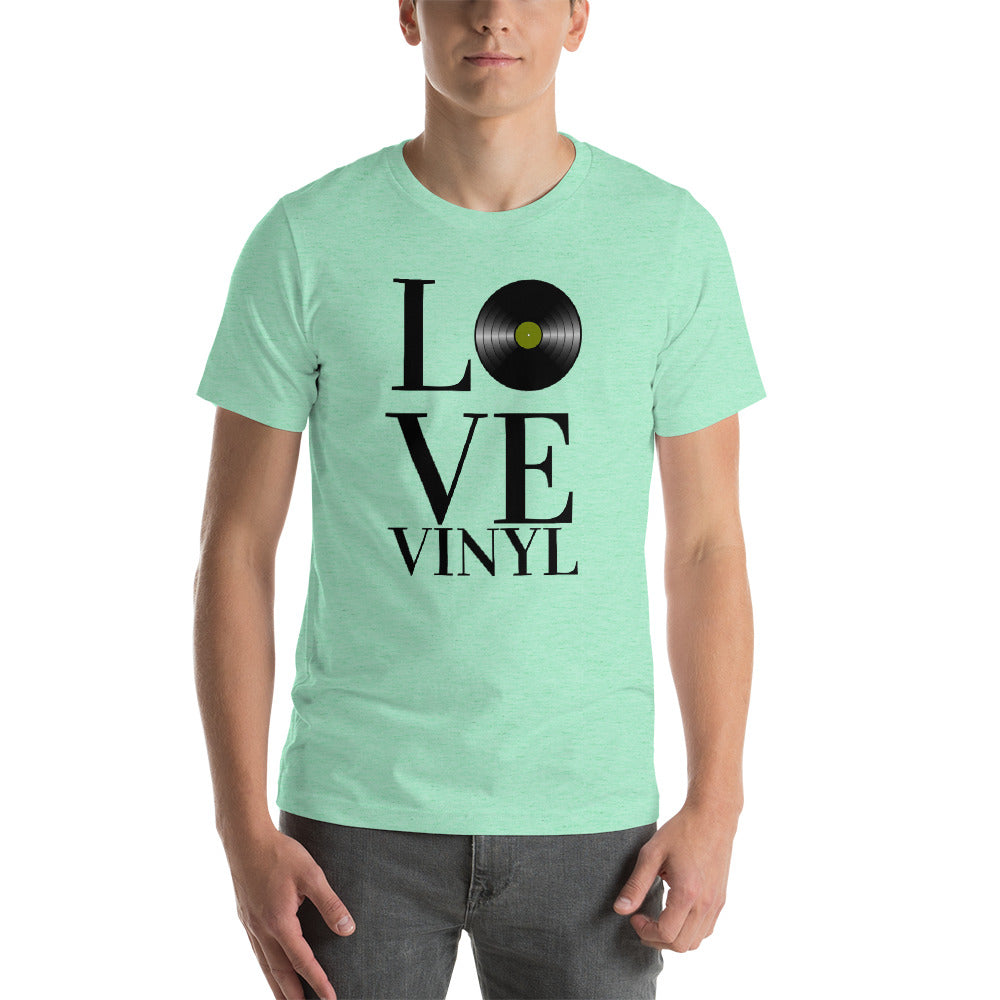 """I LOVE VINYL"" - Short-Sleeve Unisex T-Shirt"