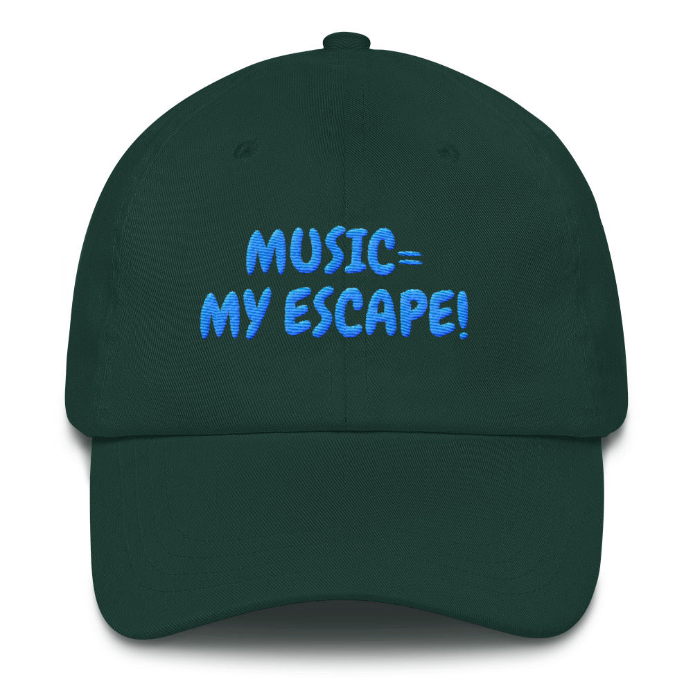 """MUSIC IS MY ESCAPE"" - Baseball Cap / Dad hat"
