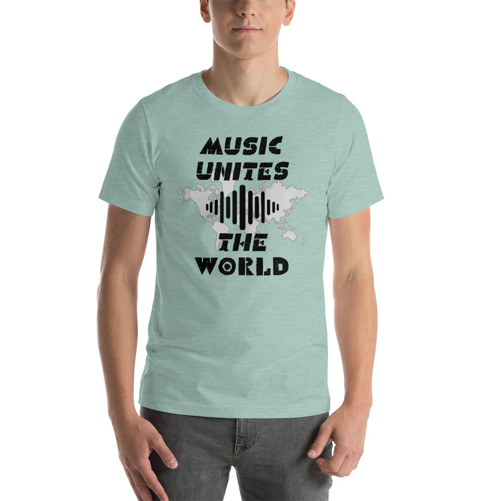 """MUSIC UNITES THE WORLD"" - Short-Sleeve Unisex T-Shirt"