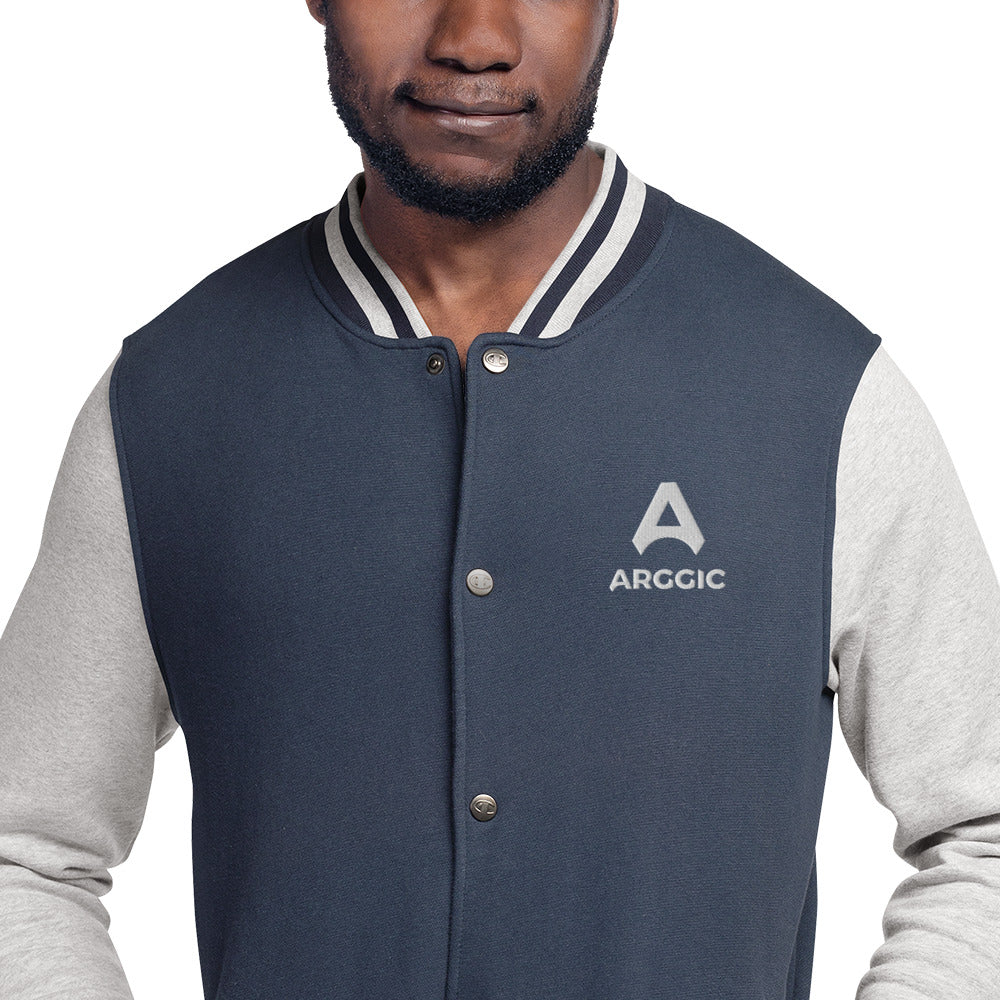 ARGGIC - Embroidered Champion Bomber Jacket