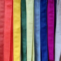 An array of colourful cotton fabric