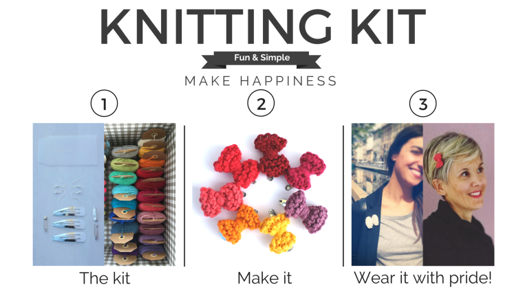 Knitting kit happiness