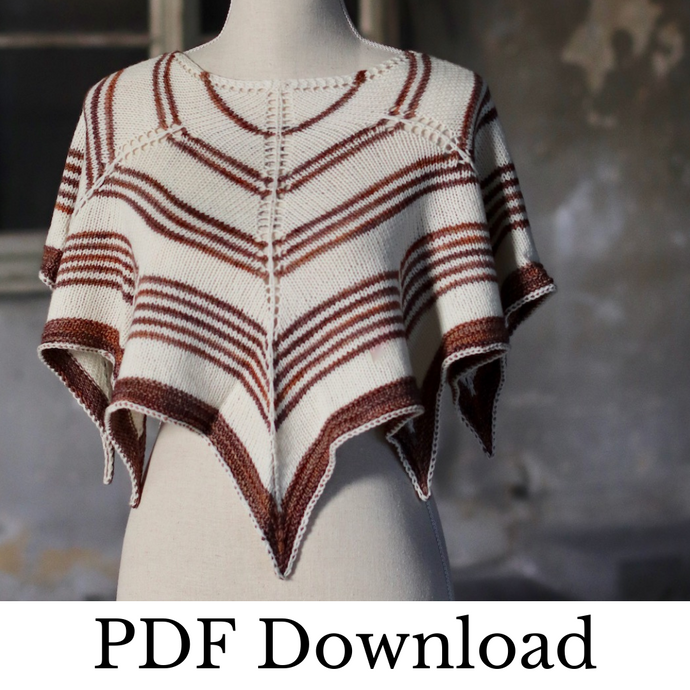 Aculei Shawl - PDF pattern download-La Cave à Laine