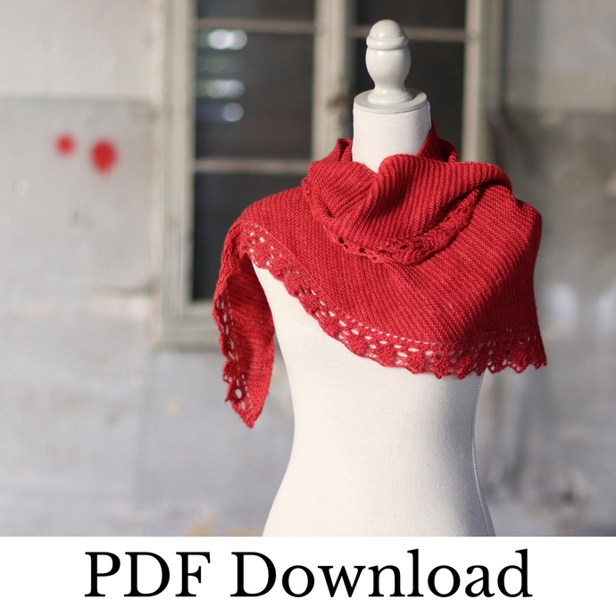 Ad Infinitum Shawl - PDF pattern download-La Cave à Laine