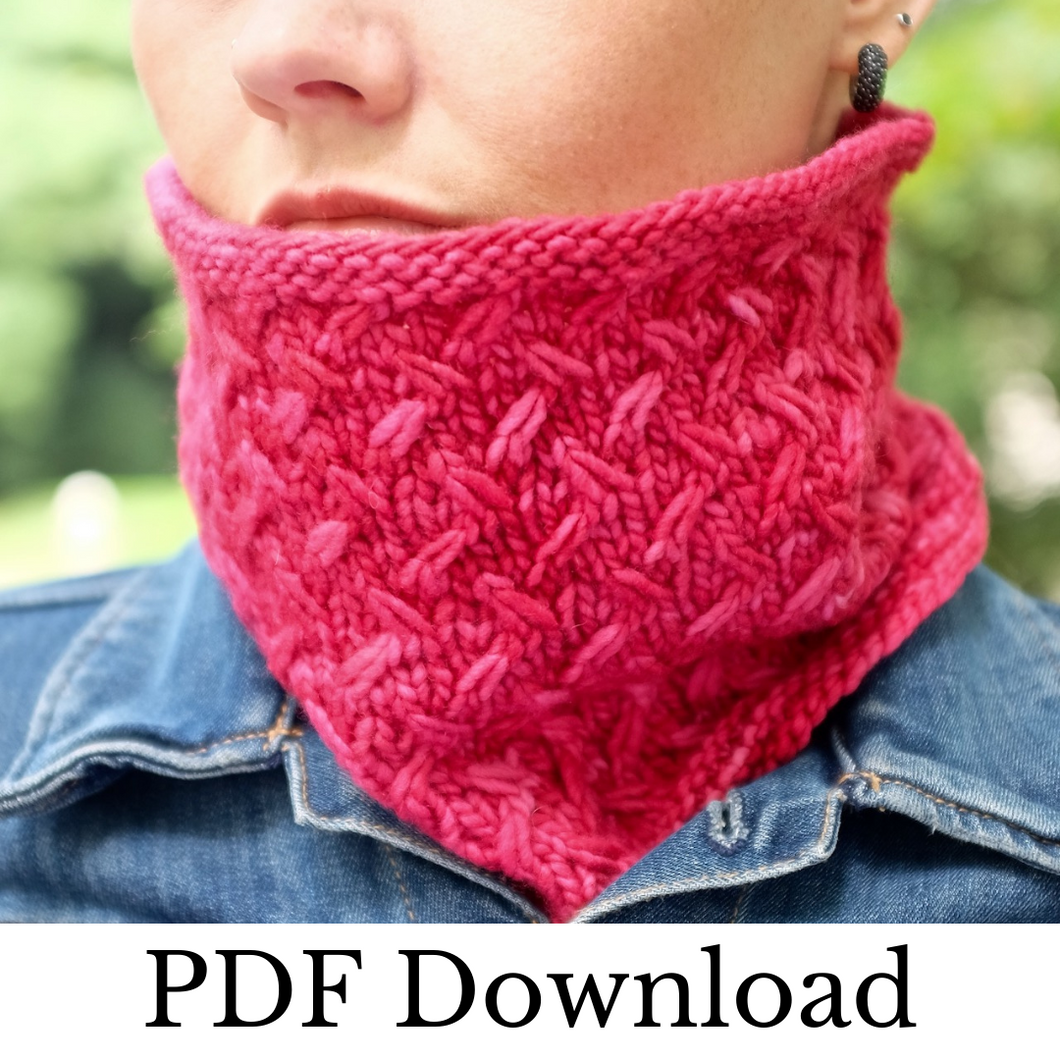 Crunchy Cowl - PDF pattern download-La Cave à Laine