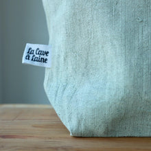 Load image into Gallery viewer, Aquarelle Project Bag - Hand-Dyed French Linen-La Cave à Laine