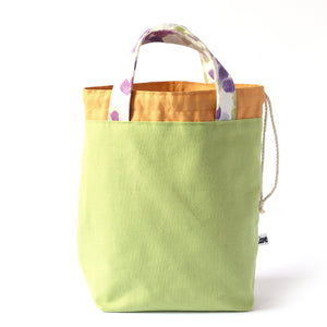 Super Gioia Project Bag - Green, Reversible-La Cave à Laine