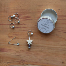 Load image into Gallery viewer, Star Stitch Markers - White-La Cave à Laine