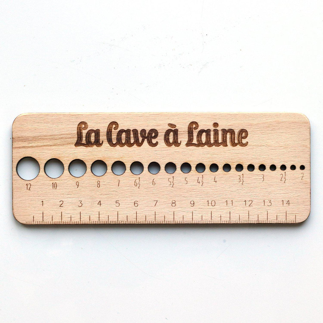 Wooden Gauge Ruler - Metric units-La Cave à Laine