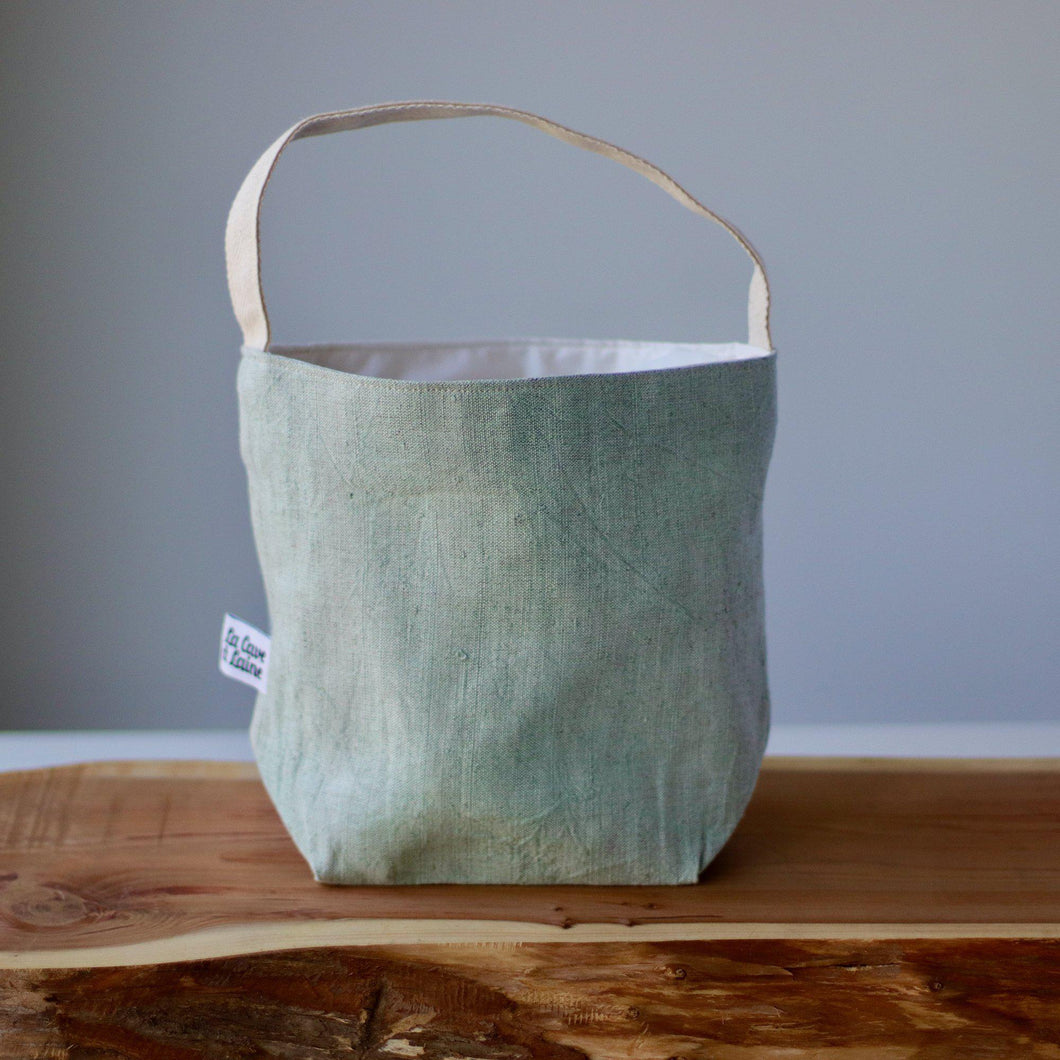 Aquarelle Project Bag - Hand-Dyed French Linen-La Cave à Laine