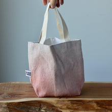 Load image into Gallery viewer, Aquarelle Project Bag - Hand-Dyed French Linen, Rosso Salmone-La Cave à Laine