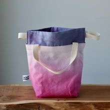 Load image into Gallery viewer, Aquarelle Project Bag, Ribbon - Hand-Dyed Organic Cotton, Rosa Cocomero-La Cave à Laine